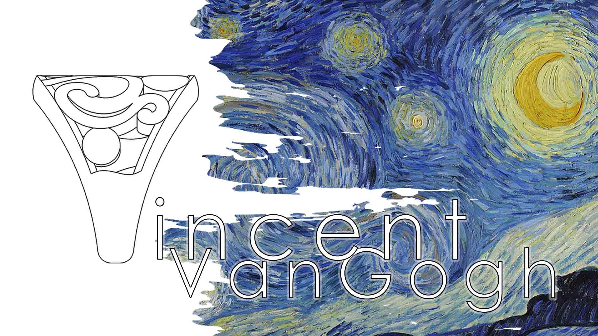Anelli bozzetto Notte Stellata Van Gogh - Maddalena Germano Blog
