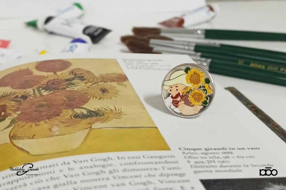 Anello Van Gogh e i suoi girasoli - Maddalena Germano e Alireza Karimi Moghaddam 2