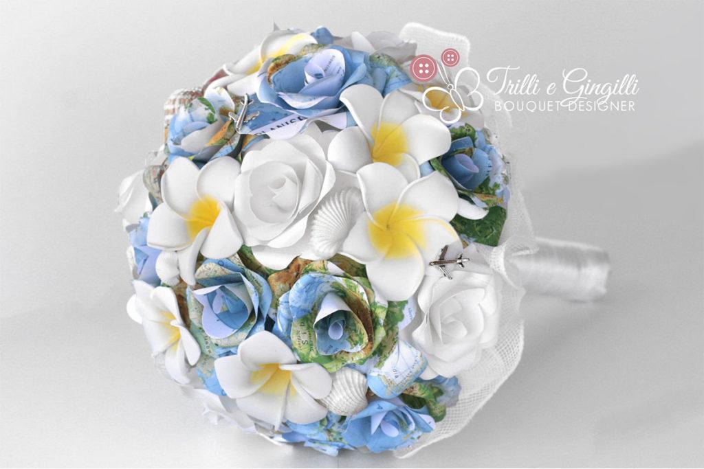 Bouquet sposa mappa geografica