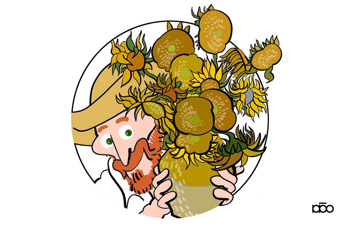 Disegno Anello Van Gogh e i suoi girasoli - Alireza Karimi Moghaddam e Maddalena Germano 1