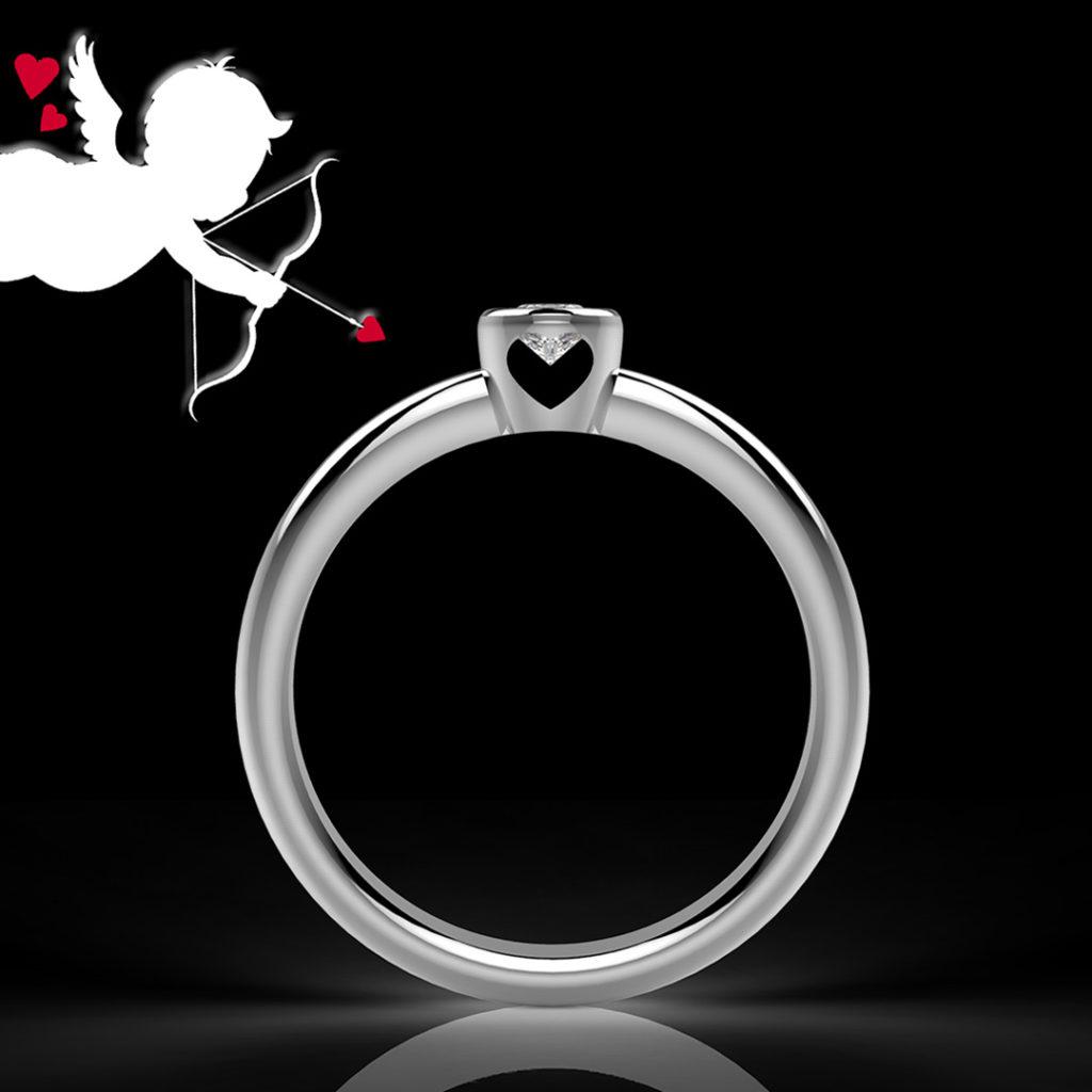 anello solitario cupido Maddalena Germano